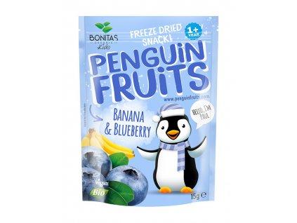 penguin fruits banán a čučoriedka