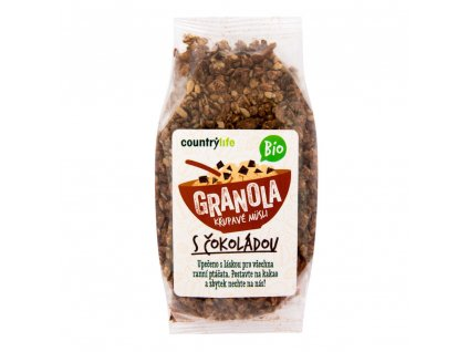 BIO Granola - chrumkavé ovsené müsli s čokoládou COUNTRY LIFE 350g