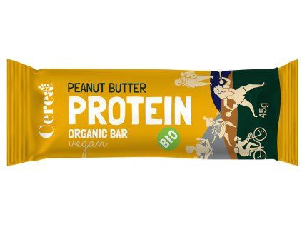 BIO Proteínová tyčinka Arašidové maslo CEREA 45g