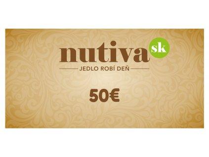 Poukážka v hodnote 50€