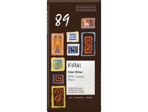 Horká čokoláda 89% Peru s kokosovým cukrom VIVANI 80g