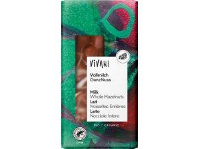 BIO Mliečna čokoláda s lieskovými orieškami VIVANI 100g