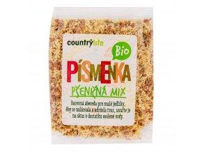 BIO Cestoviny písmenká pšeničné mix COUNTRY LIFE 250g