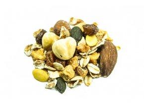 ovocne musli s orechmi a olej semen