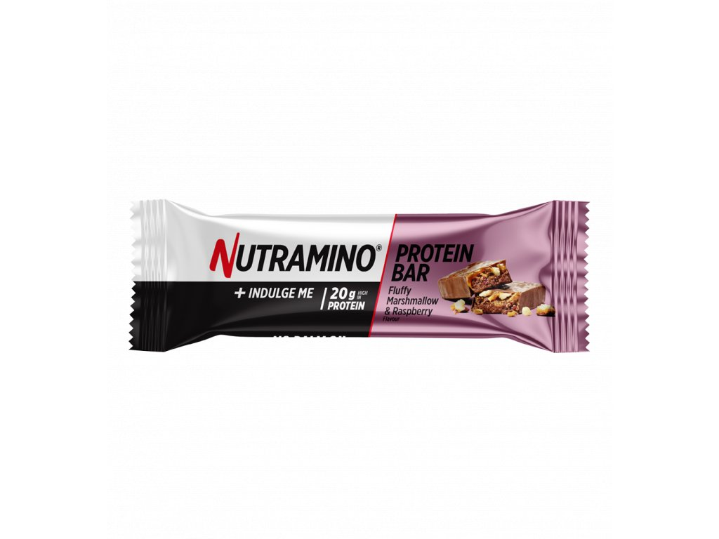 Nutramino Proteinová Tyčinka Marshmallow a Malina- 64g