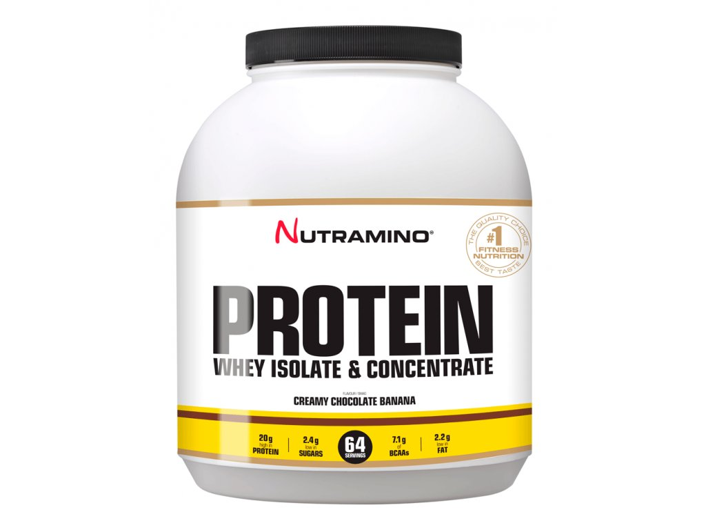 mockup WHEY Protein chocolate & bananna 1,8