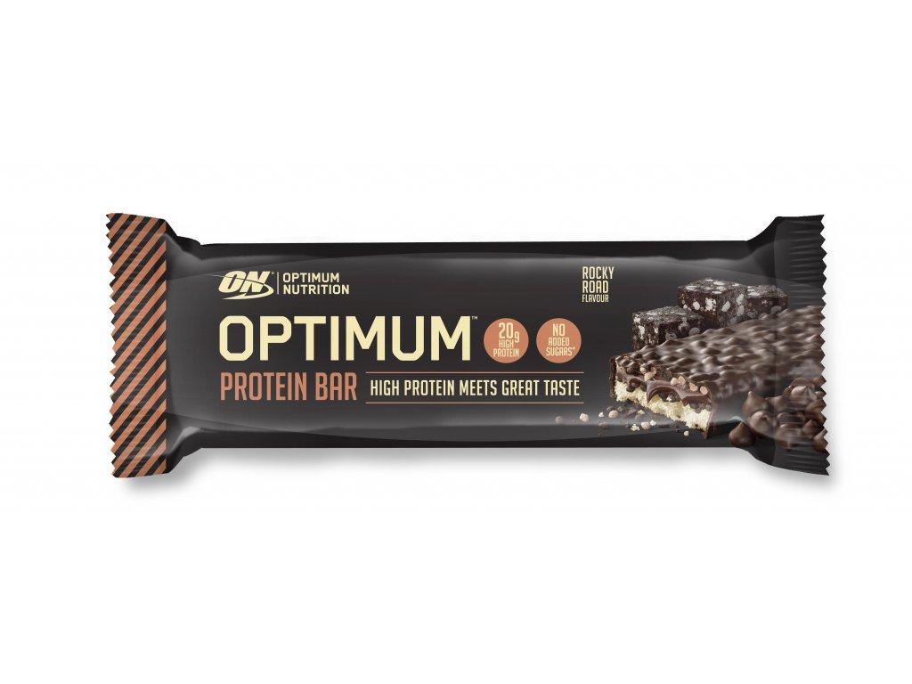 optimum proteinova tycinka rock road 60g nutramino cz