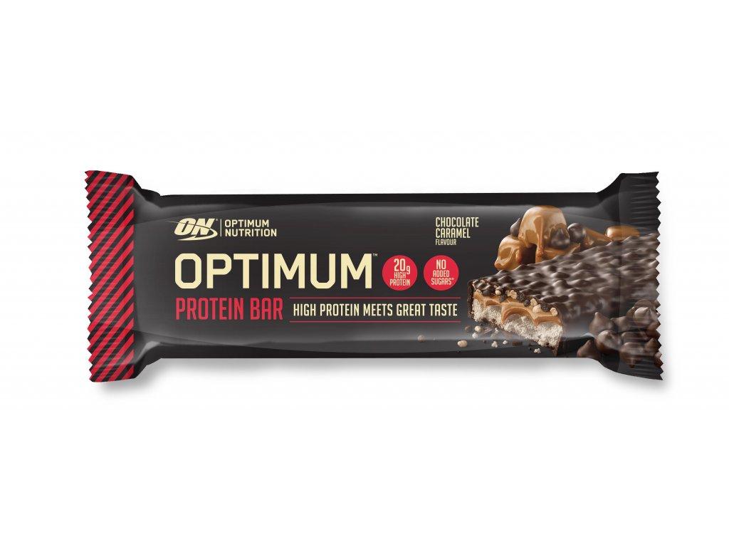 optimum proteinova tycinka cokolada a karamel 60g nutramino cz