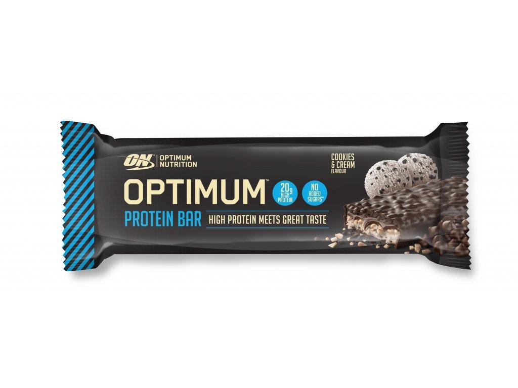 optimum proteinova tycinka cookies krem 62g nutramino cz