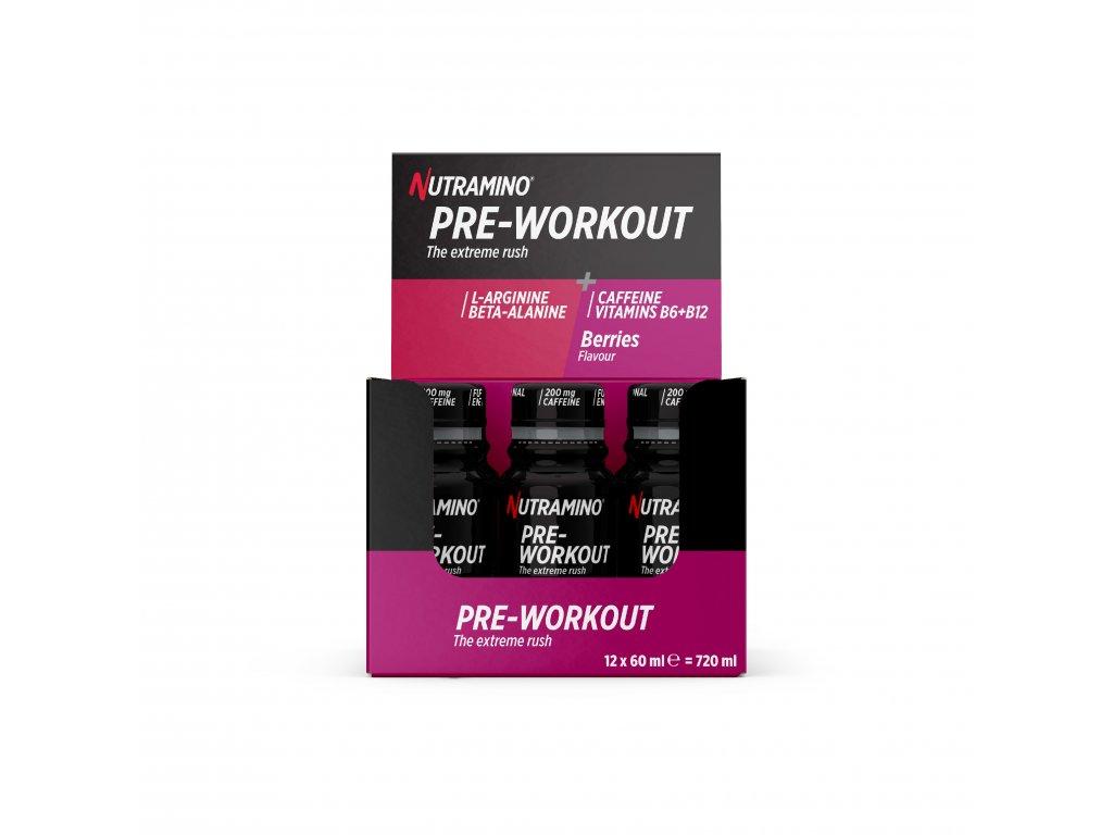 Pre Workout Shot 60ml Berry Display Box 200mg