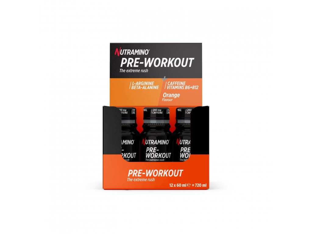Pre Workout Shot 60ml Orange Display Box 200mg
