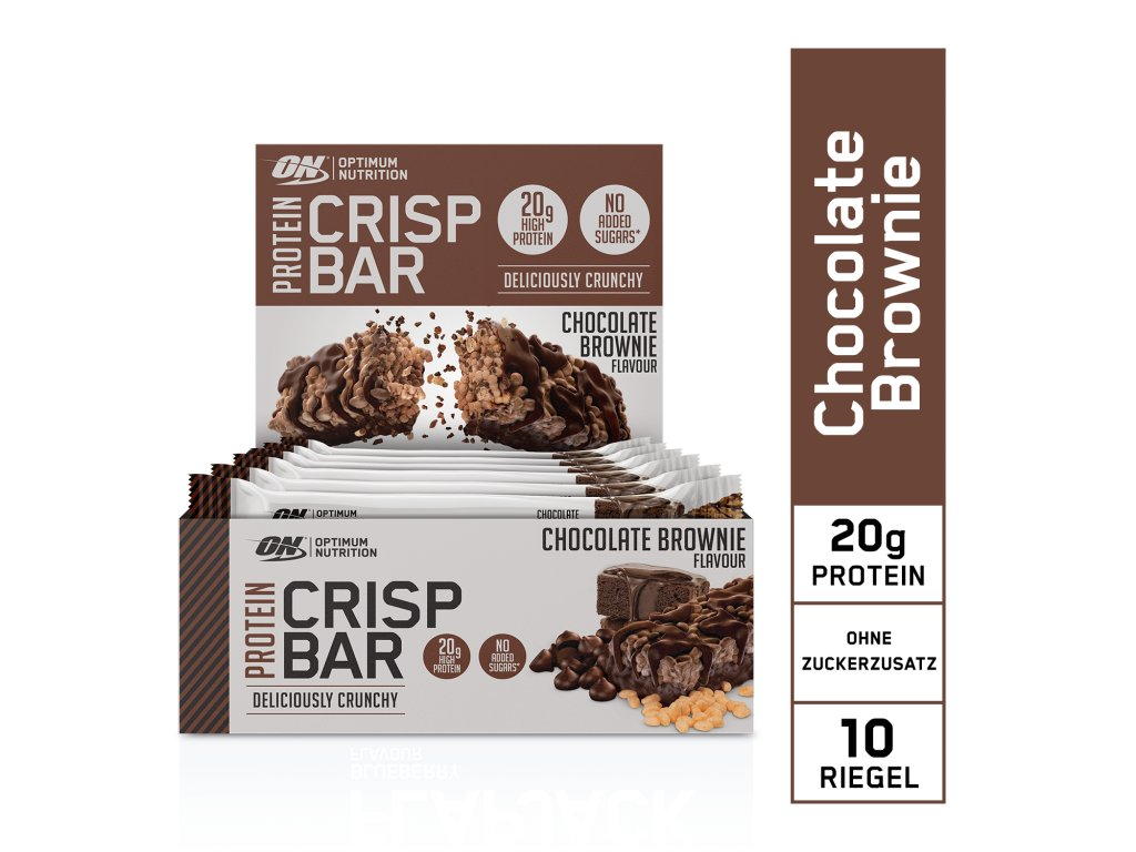 EU ON Protein Crisp Bar box chocolate brownie