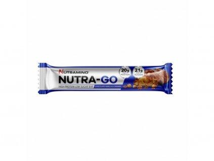nutramino nutra go proteinova tycinka cokolada vanilka a karamel 64g nutramino cz