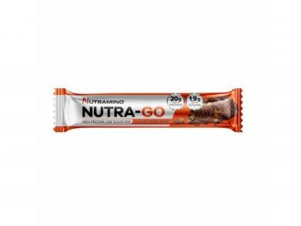 nutramino nutra go proteinova tycinka cokolada a burakove maslo 64g nutramino cz