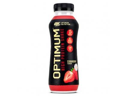optimum protein shake prichut jahoda 330ml nutramino cz