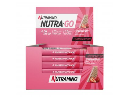 Nutra Go Protein Wafer Strawberry nutramino.cz