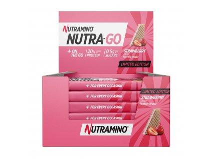 Nutra Go Protein Wafer Strawberry nutramino.cz