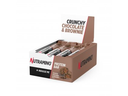 Protein Bar Crunchy Chocolate Brownie 64g Display Box