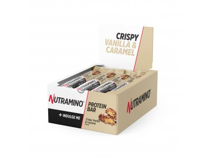 Protein Bar Crispy Vanilla & Caramel 64g Display Box