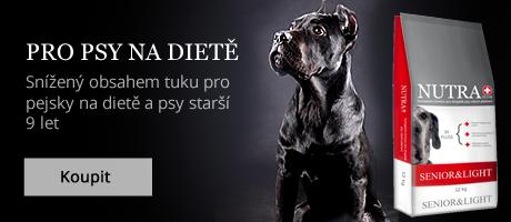 Granule pro starší psy a psy na dietě