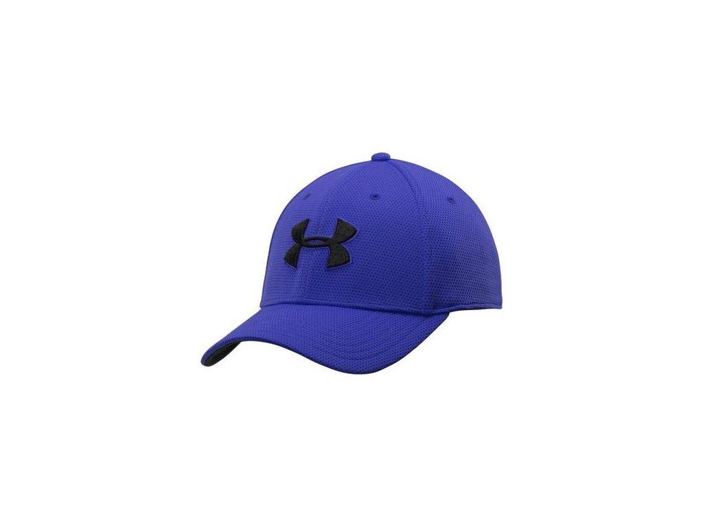 Pánská čepice UNDER ARMOUR blitzing II STRETCH FIT CAP modrá