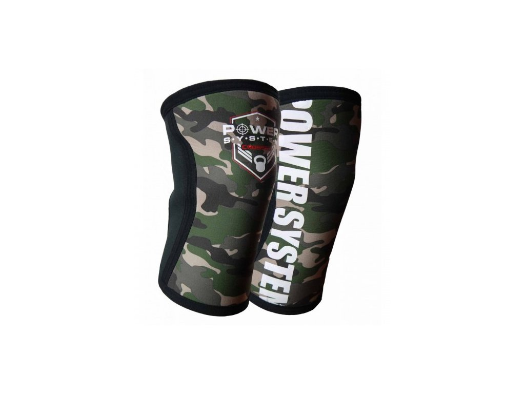 POWER SYSTEM Kolenní bandáž KNEE SLEEVES CAMO