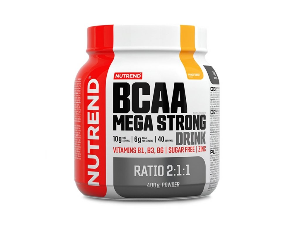 bcaa mega strong powder mango sorbet 400g 2020