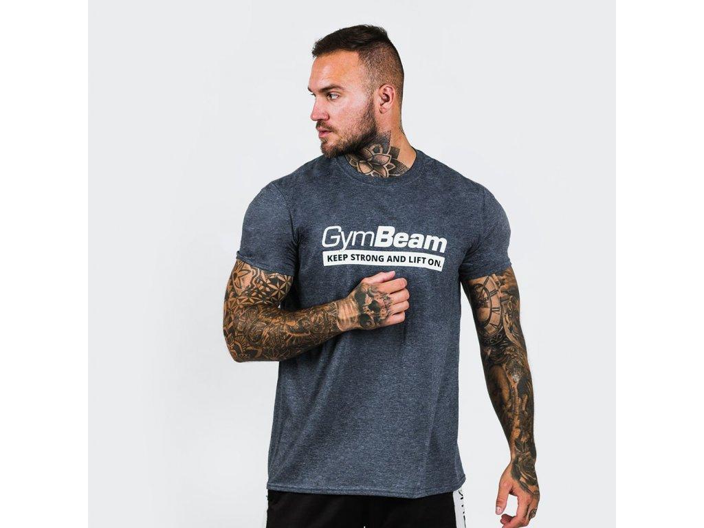 t shirt keep strong heather blue gymbeam 1