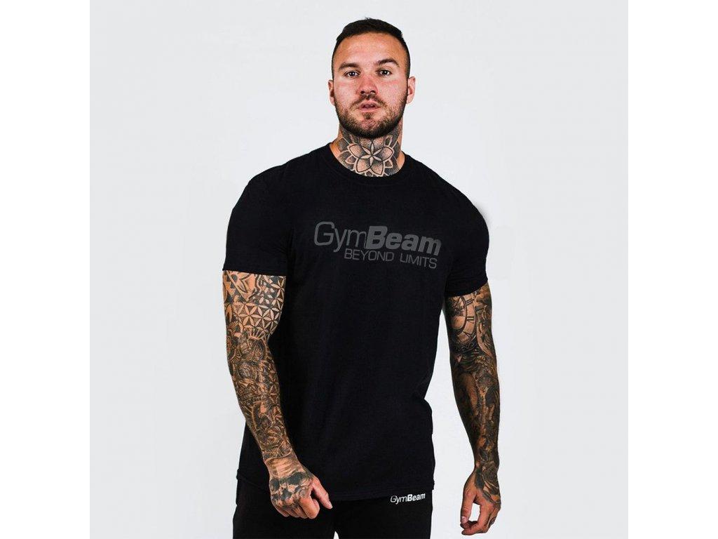 t shirt beyond limits gymbeam black grey
