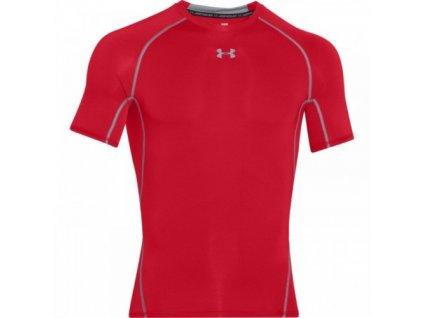 Pánské tričko Under Armour HeatGear SS Compression Shirt červené