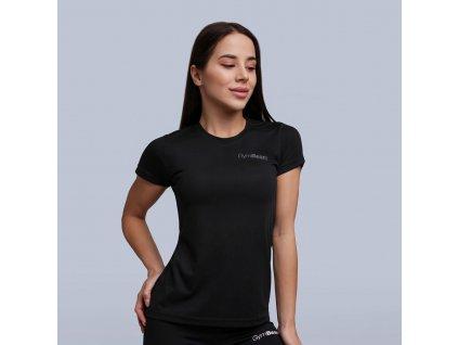 womens trn tshirt black 1 gymbeam