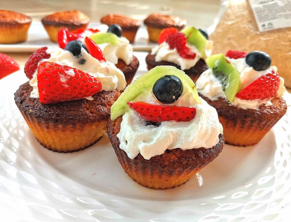 RECEPT - Muffiny z lískoořiškové mouky