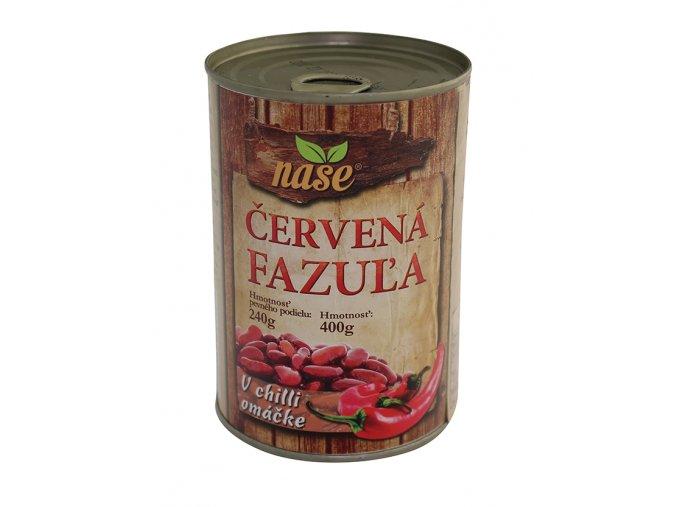 NAŠE Fazole červená v chilli omáčce 400g