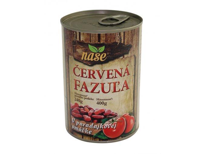 NAŠE Fazole červená v rajč. omáčce 400g