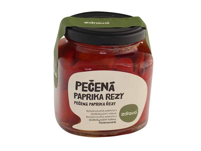ZDRAVO Pečená červená paprika 290g