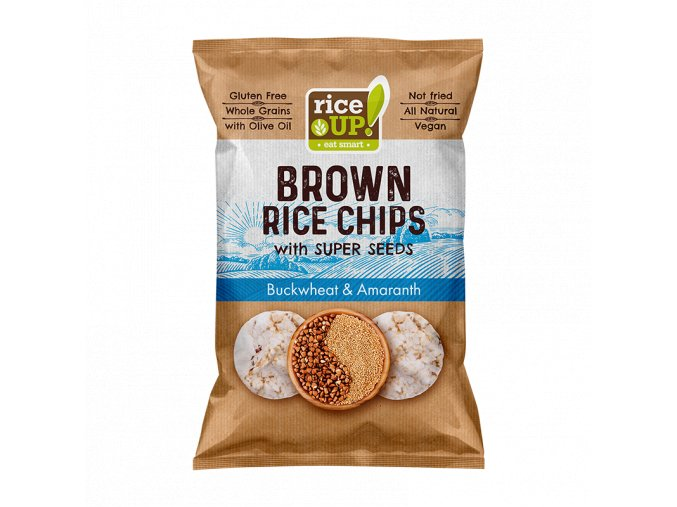 RICE UP! Brown Rice Chips Superseeds Buckwheat & Amaranth 60g MOCK UP S