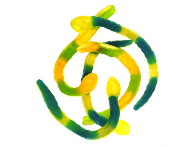 Želé hadi se žlutými bříšky