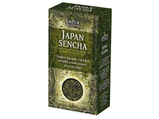 GREŠÍK Japan Sencha z.č.  Čaje 4 světadílů krab.  70 g