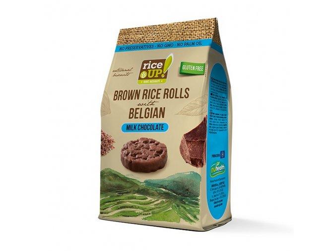 40577 Rýžové minichlebíčky s mléčnou čokoládou 50g