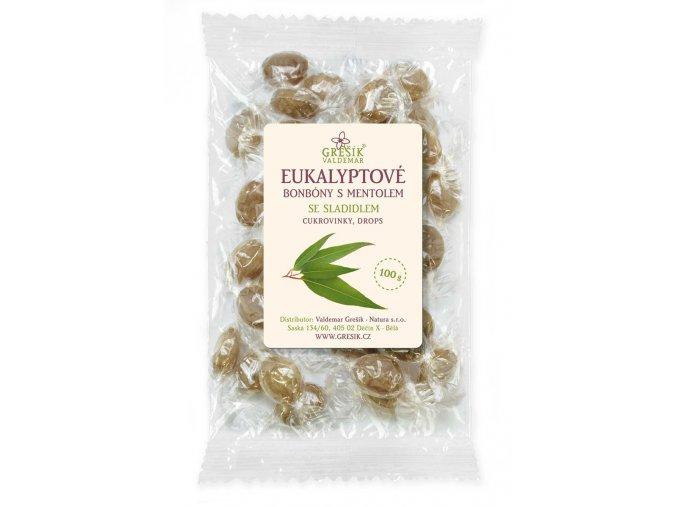 GREŠÍK Eukalyptové bonbóny se sladidlem 100 g