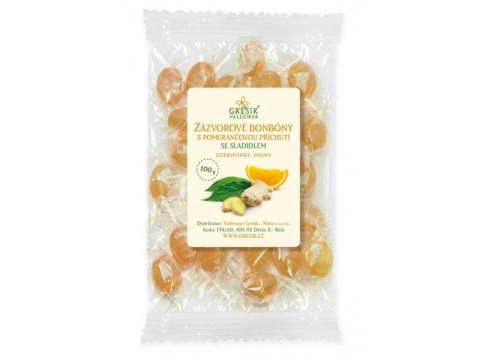 GREŠÍK Zázvorové s pomerančovou příchutí se sladidlem 100 g