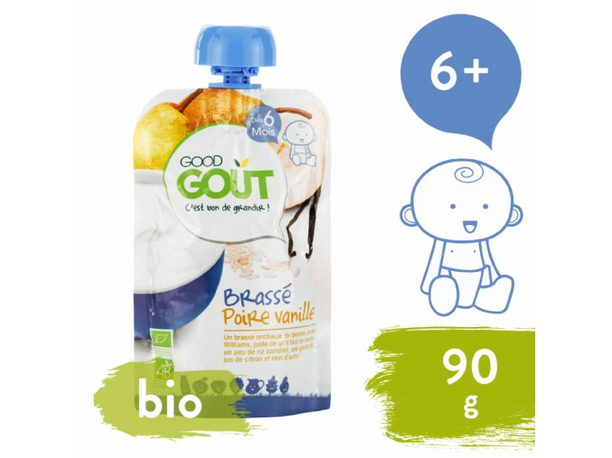 good gout bio vanilkovy jogurt s hruskou 90 g