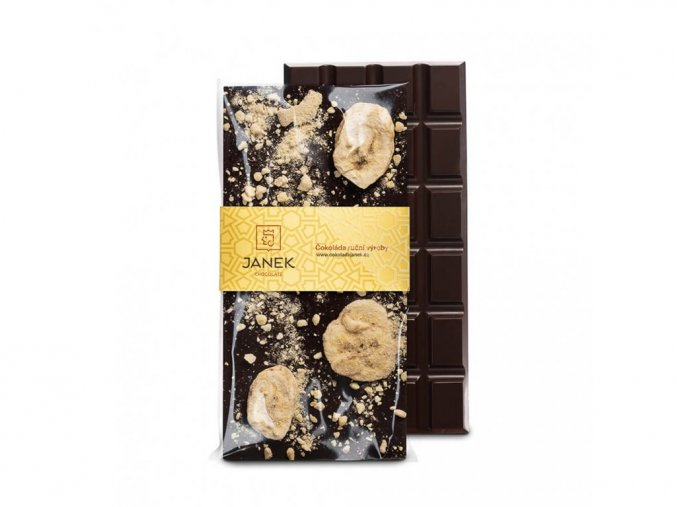 347 tabulka horke cokolady 64 procent s bananem cokoladovna janek