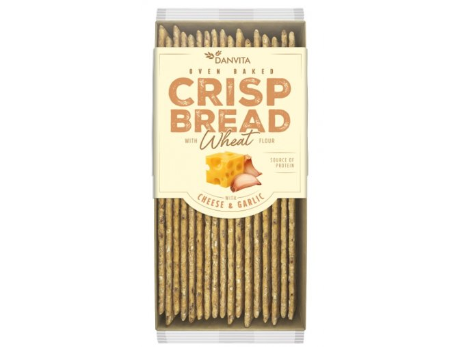 CRISP BREAD Wheat CHEESE & GARLIC