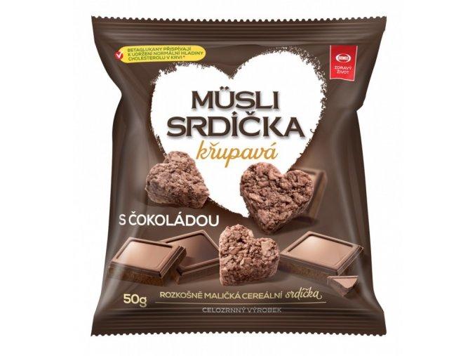 Semix Musli srdíčka křup. čokoláda-sáček 50g