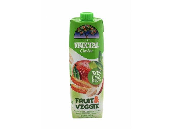 Fructal fruit & veggie mango, mrkev 1l