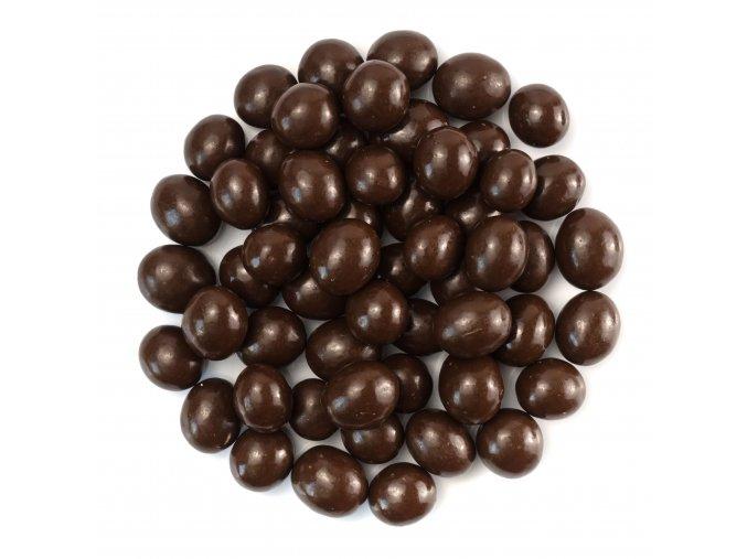 Kávové zrno v hořké čokoládě