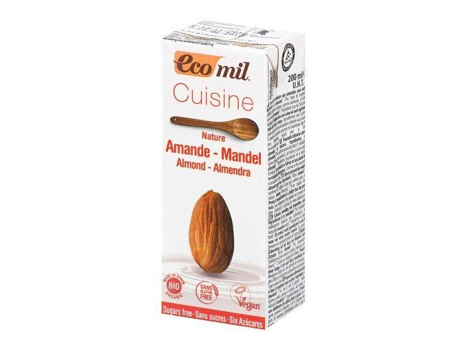 Smetana Mandlová Alternativa Bez Cukru BIO 200 ml Ecomil
