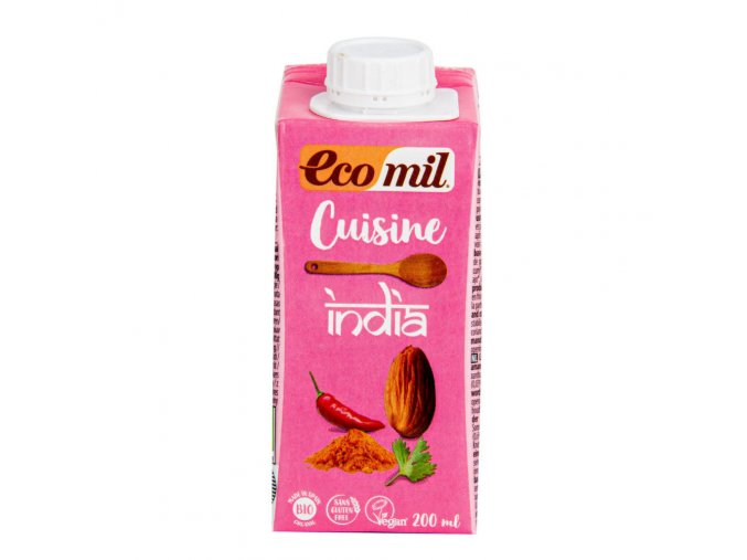 Ecomil Mandlová alternativa smetany INDIA 200ml BIO