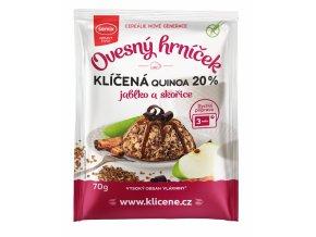 ovesny hrnicek s klicenou quinoou jablky a skorici bez lepku 70 g original